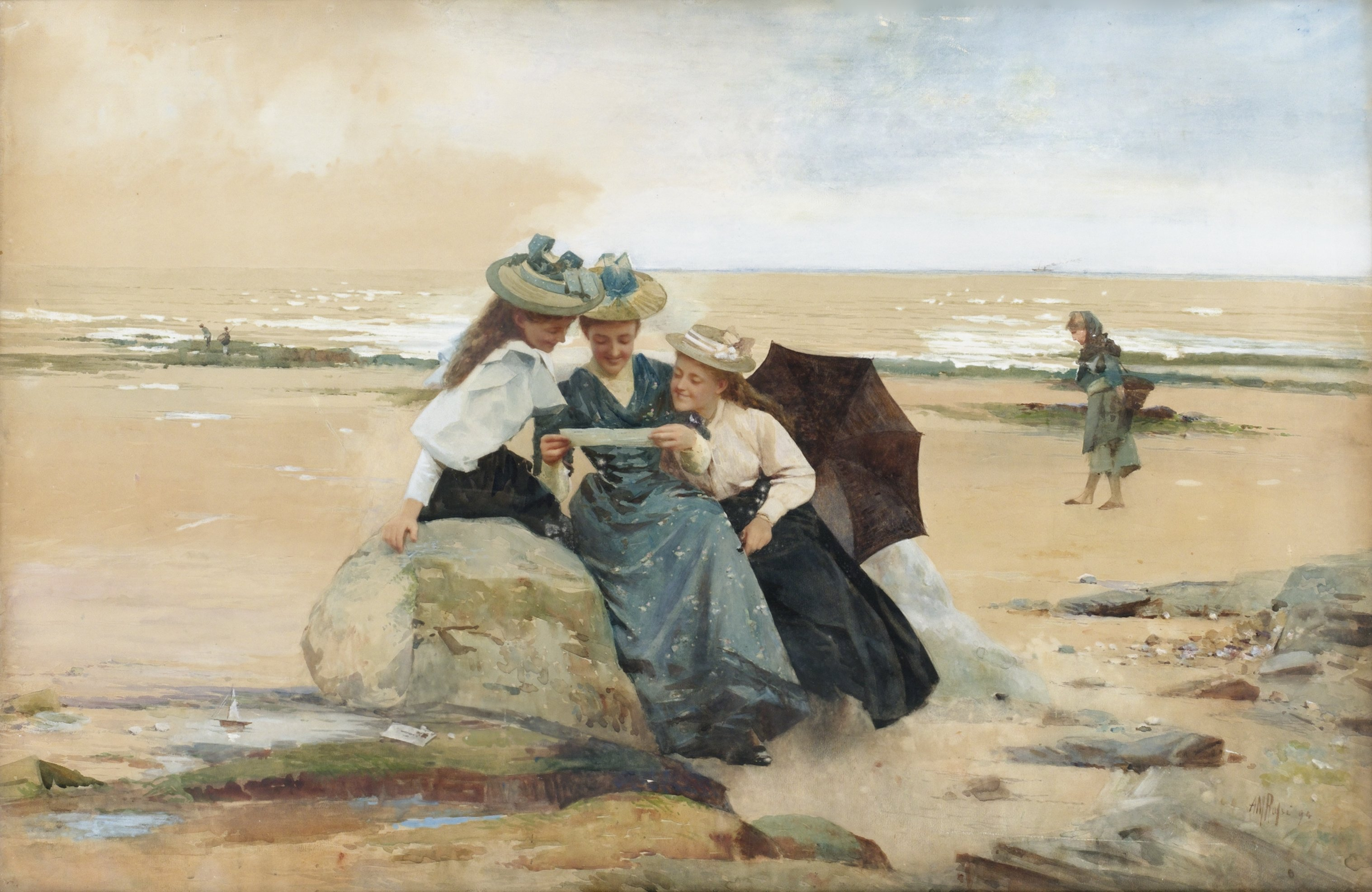 """""""The Love Letter."""" 1894."""