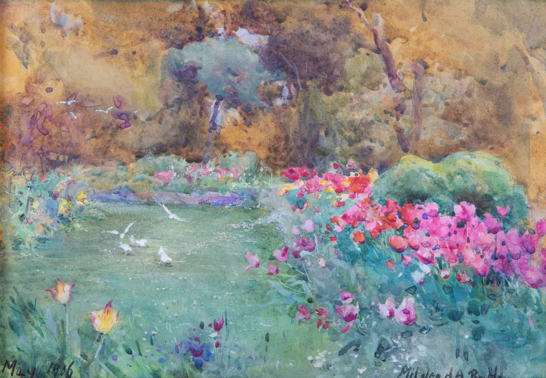 """Gardens at Kilmurry."" 1906."