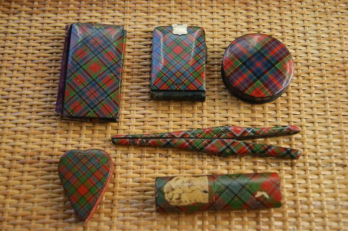 McFarlane tartan ware sewing kit.