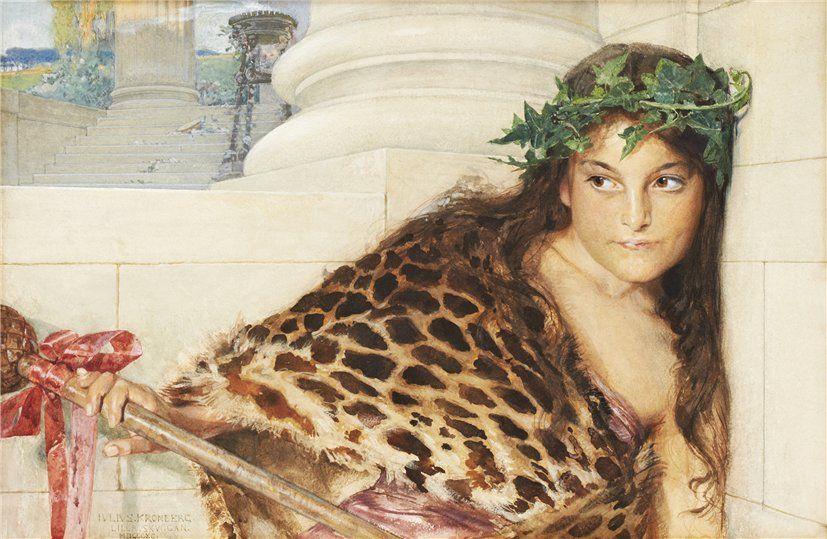 """""""Hvilande danserska."""" 1880."""