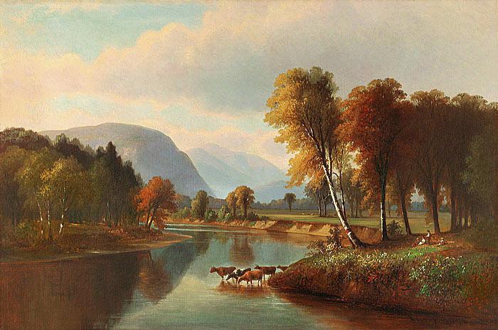 """""""Saco River, North Conway."""" 1874."""