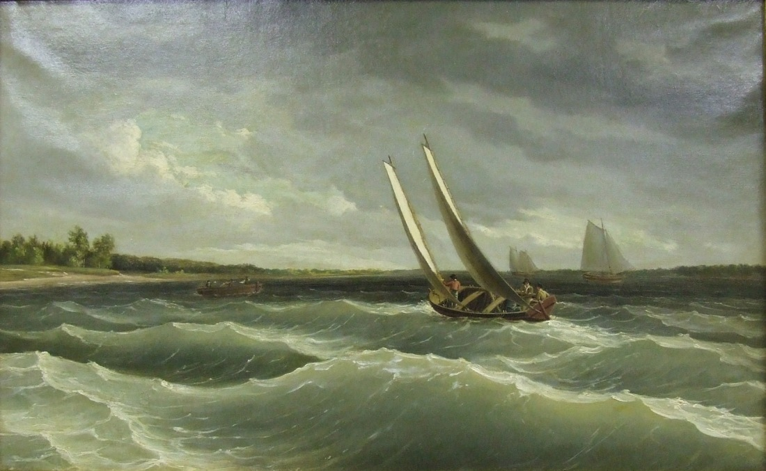 """Boats Navigating the Waves."" ca. 1828."