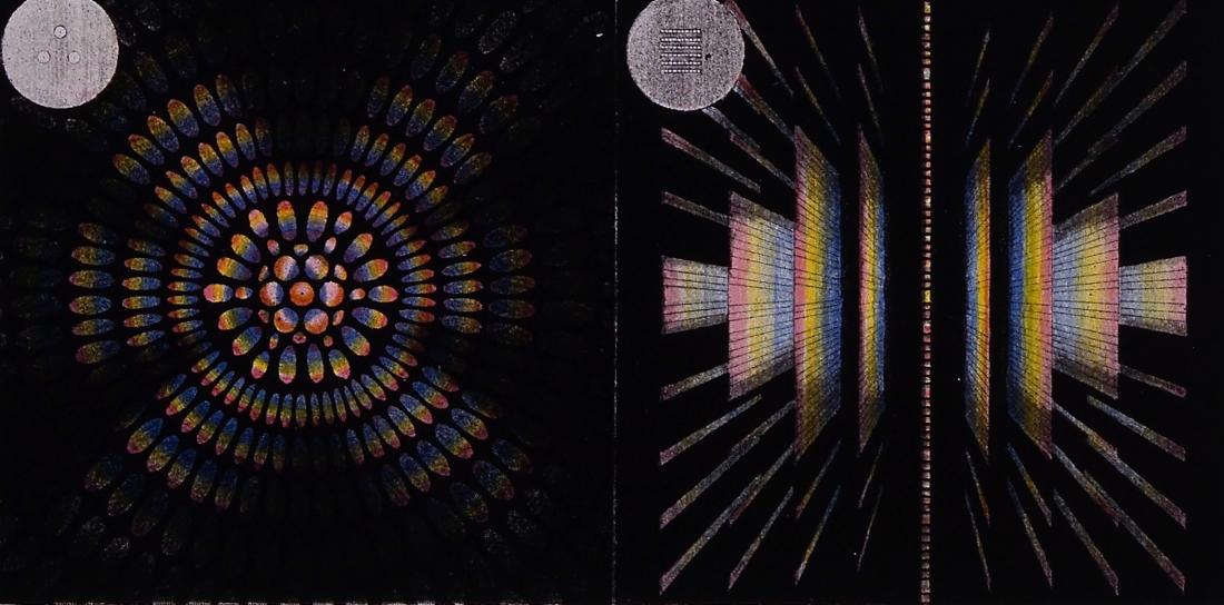 """""""Polychromatic Fringes,"""" (detail). Plate VI in """"Les Phénomènes de la Physique."""" 1868."""