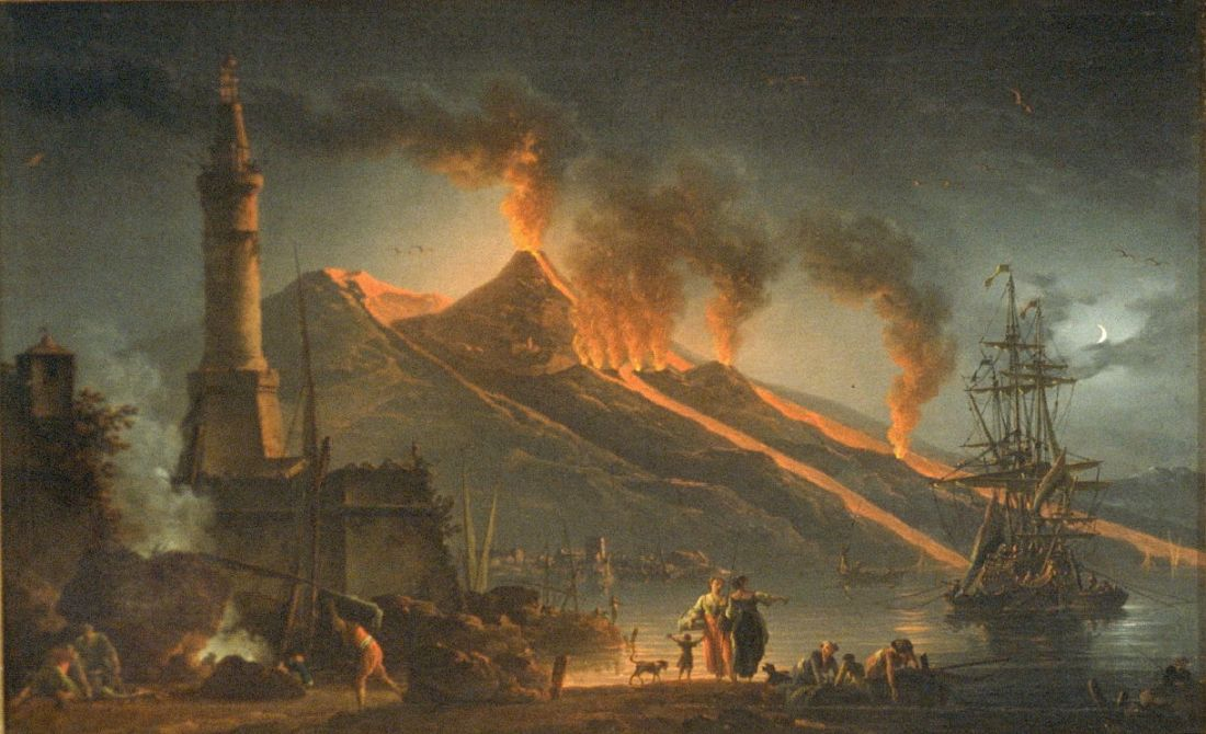 """""""Eruption of Mount Vesuvius."""" 1762."""