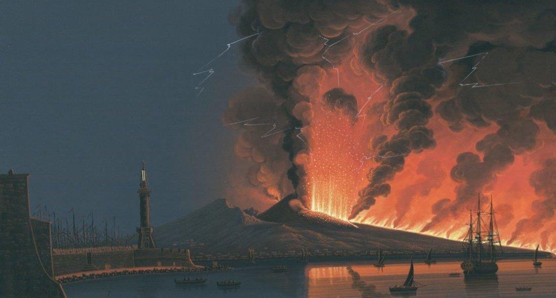 """""""The Eruption of Vesuvius, 1794."""" ca. late 18th century."""