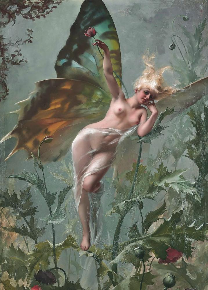 """""""Femme Papillon"""" (detail). 1888."""