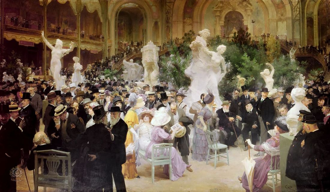 """""""Friday at the French Artists' Salon."""" 1911."""