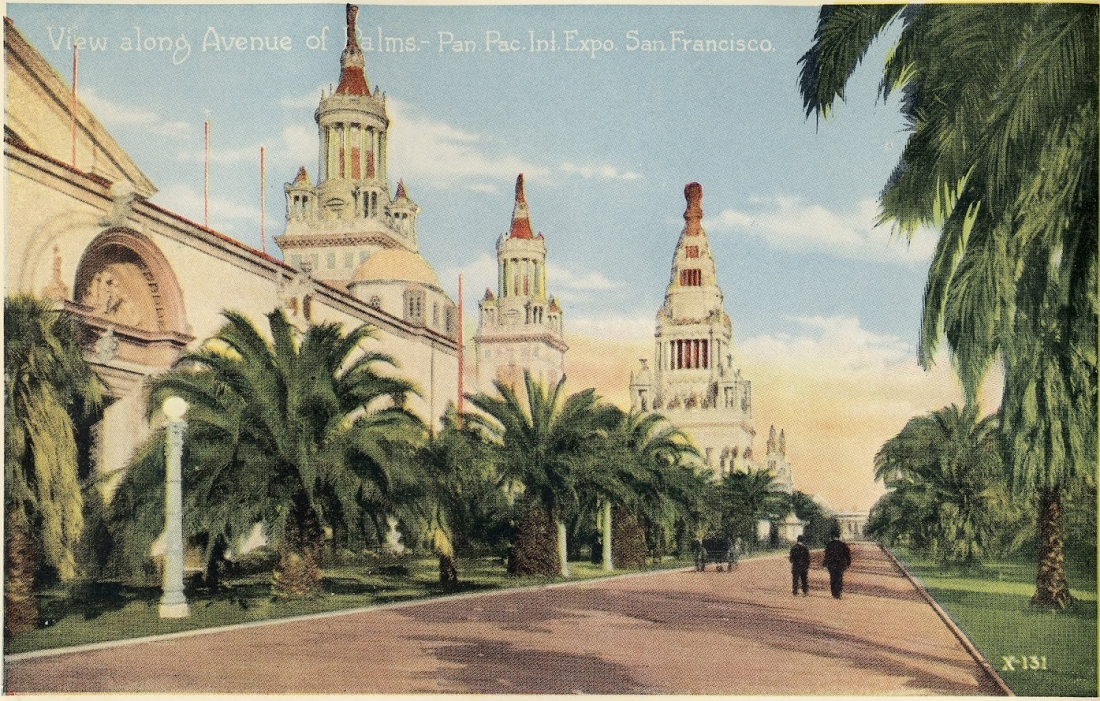 """View Along Avenue of Palms."" X-131."