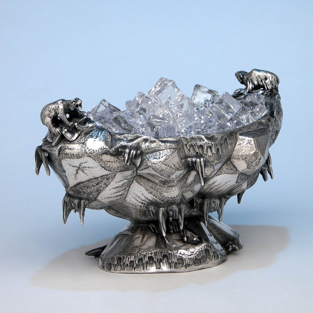 """Polar"" ice bowl. ca. 1870."