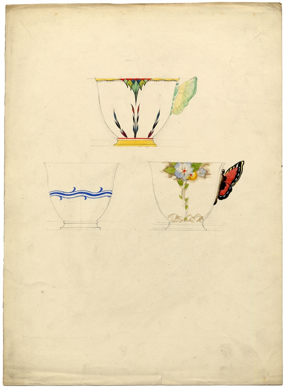 Design for cups. ca. 1935.
