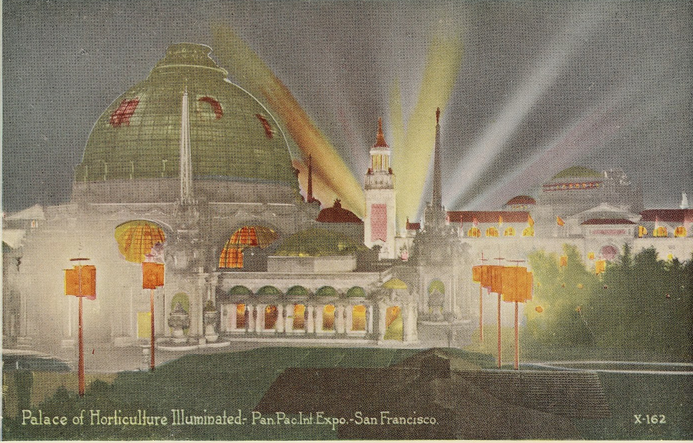 """""""Palace of Horticulture Illuminated."""" X-162."""