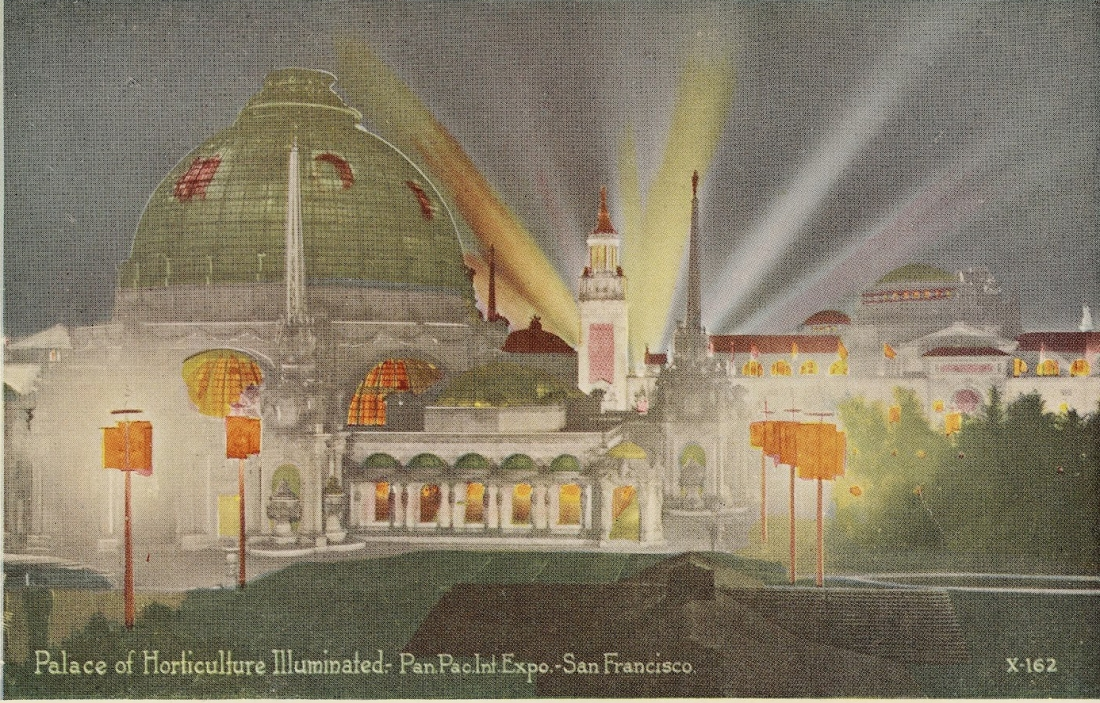 """Palace of Horticulture Illuminated."" X-162."