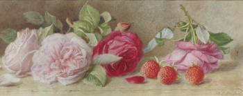 Still life of roses. No date.