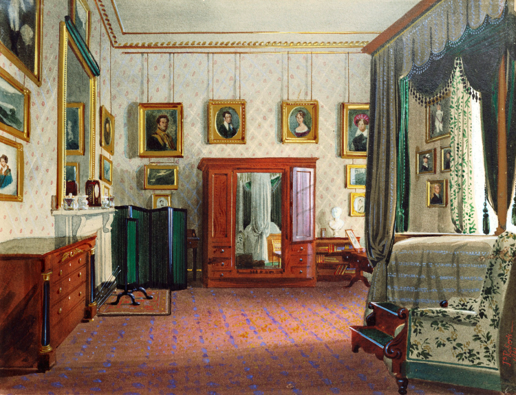Duchess of Kent's bedroom. 1861.