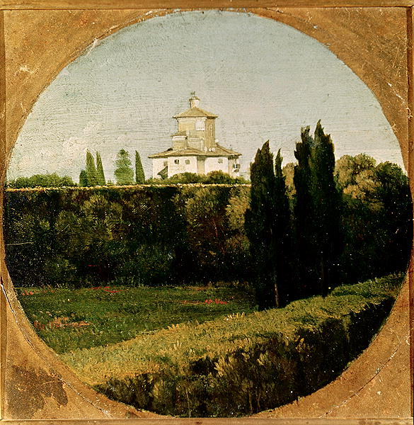 """View of the Villa Medici Rome."" Undated."