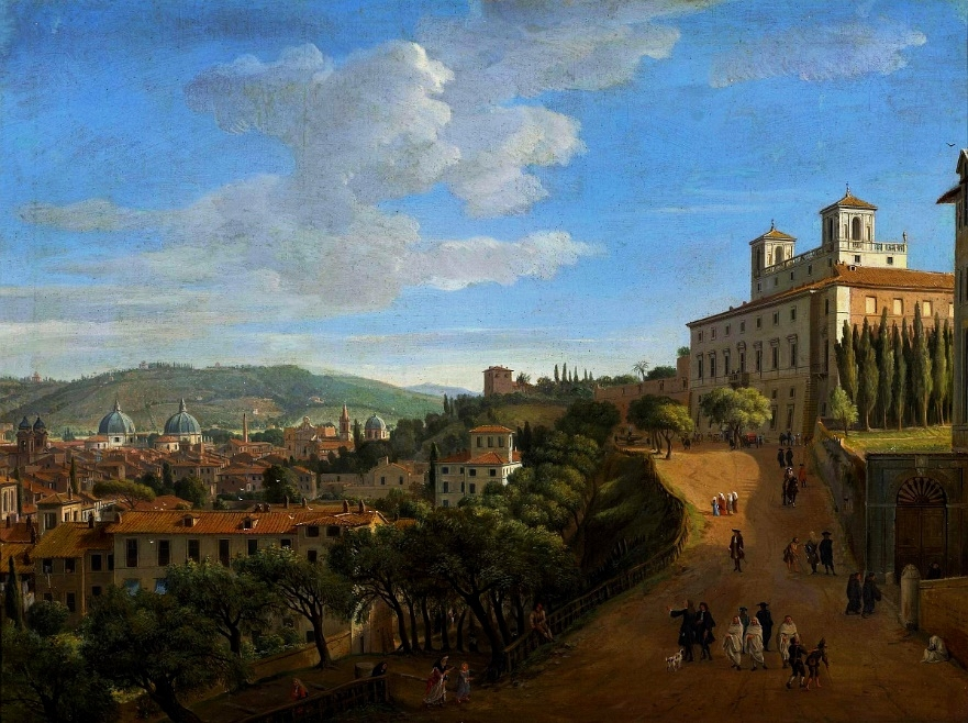 """View of Rome from Villa Medici."" 1712."