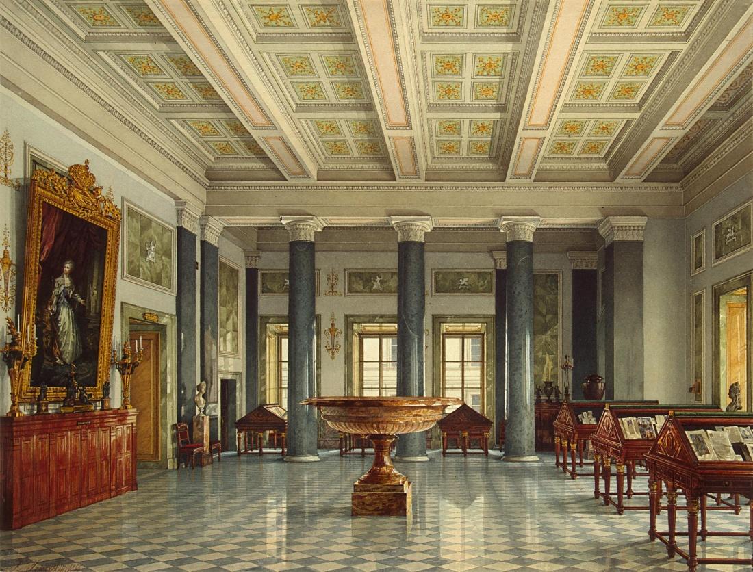 """The Room of Manuscripts."" 1855."