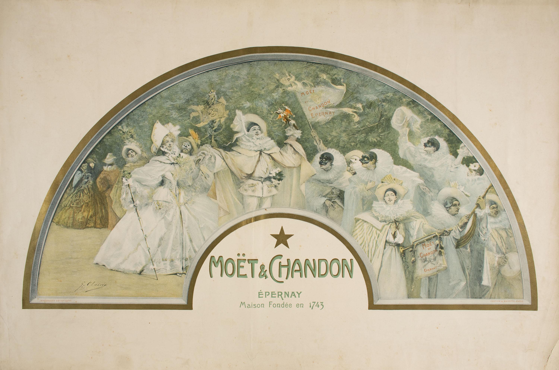 Poster in the motif of a fan. 1900.