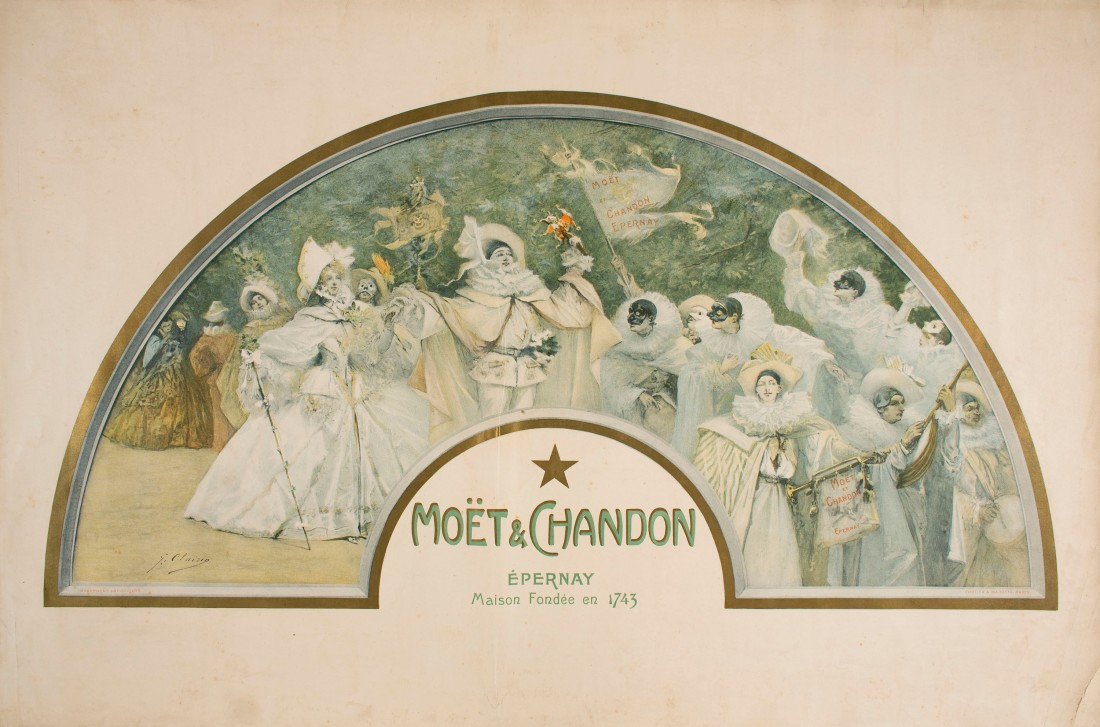 Poster in the motif of a fan. 1900.