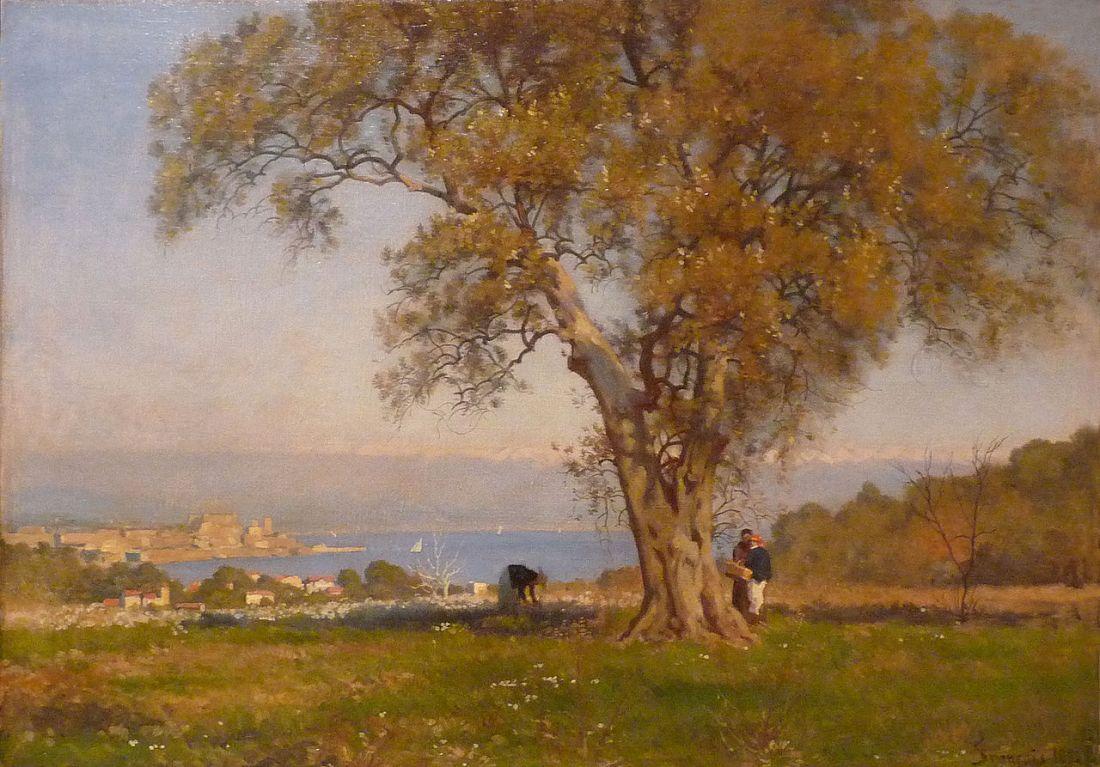 """""""Vue d'Antibes."""" 1894."""