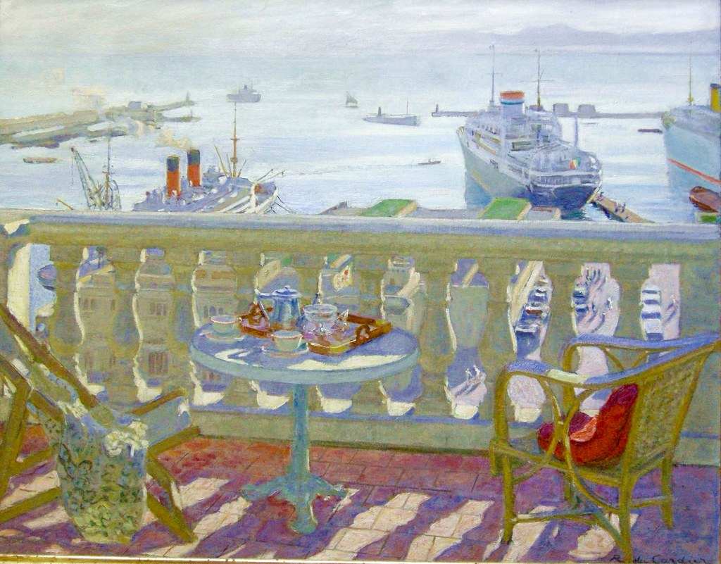 """Terrace in Alger."" ca. 1920."