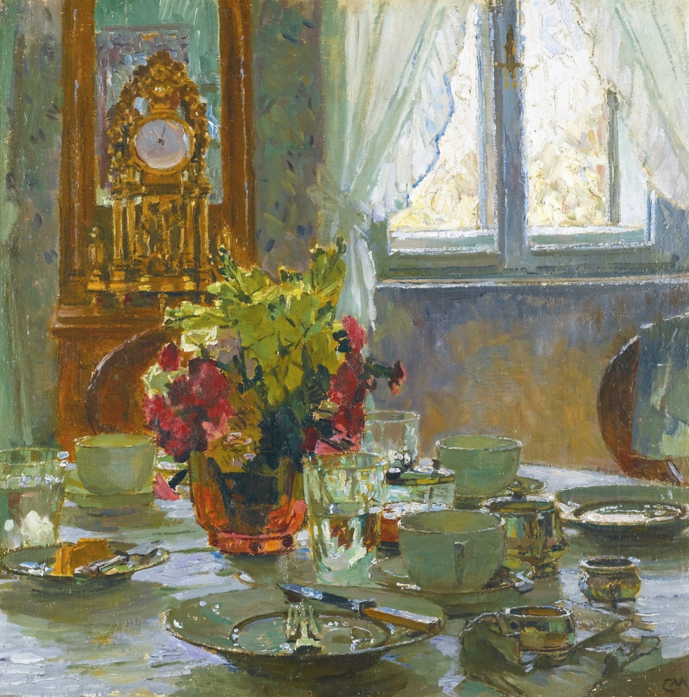 """""""The Breakfast Table."""" No date."""