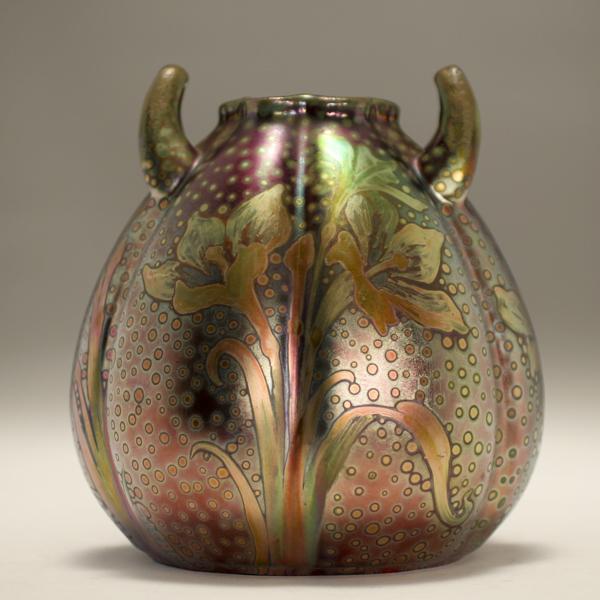 Double handle vase.