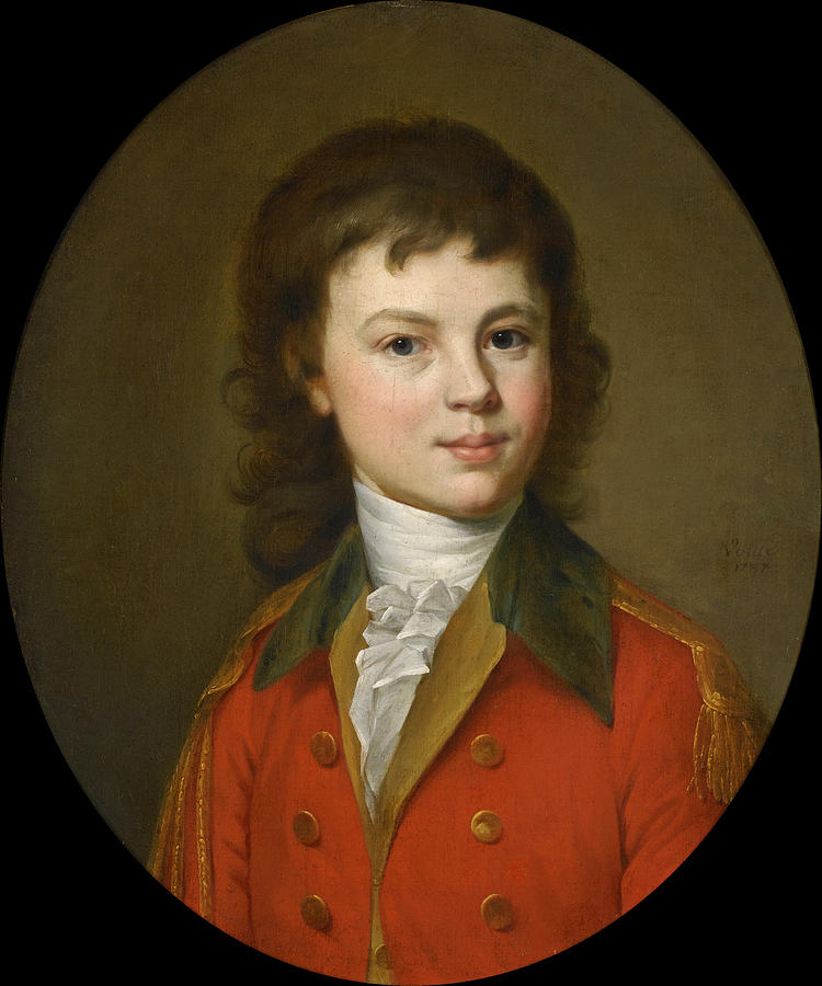 Portrait Of Count Paul Alexandrovich Stroganoff Aged 15.