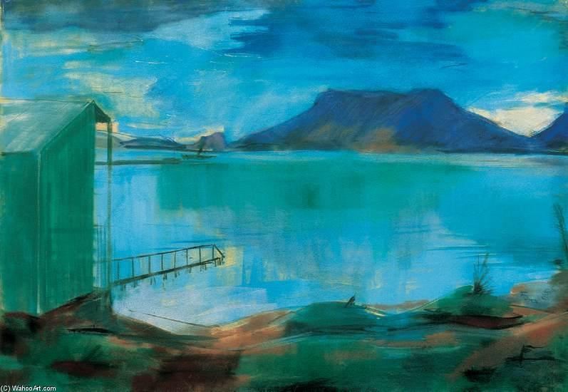"""""""Lakeshore with Bathinghouse."""" 1930."""