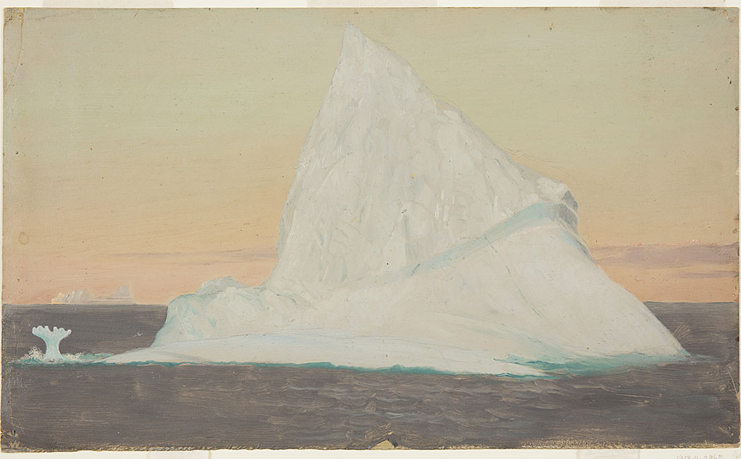 """Iceberg and Ice Flower."" No date."