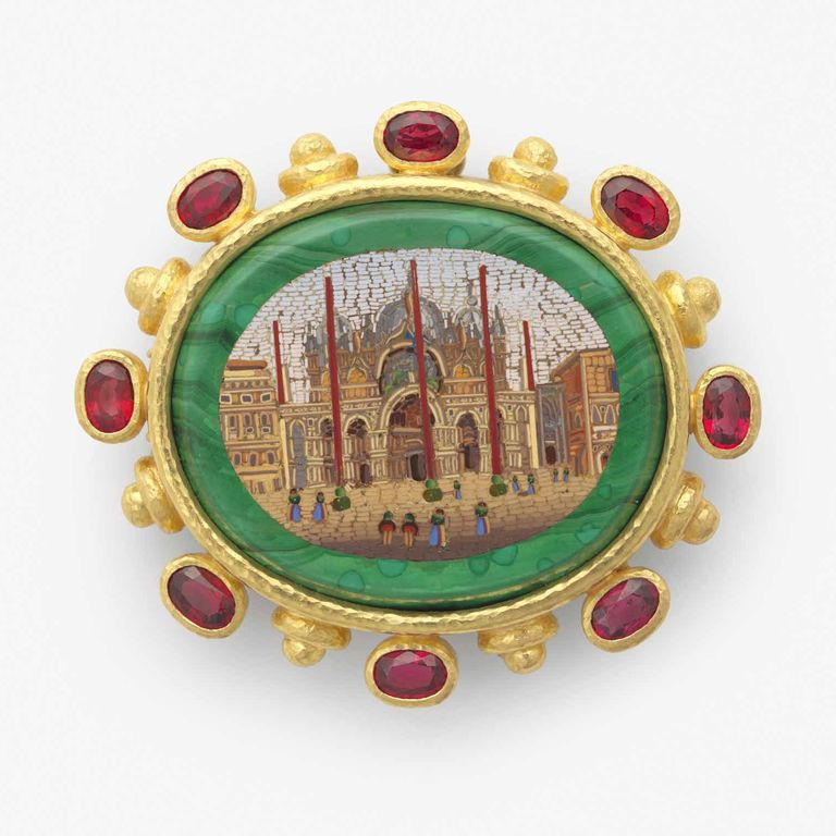 Basilica di San Marco brooch with red spinels.