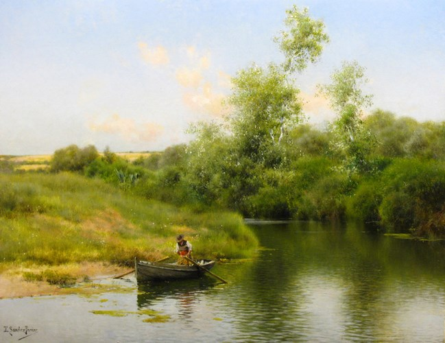 """A Summer Day on the River."" No date."