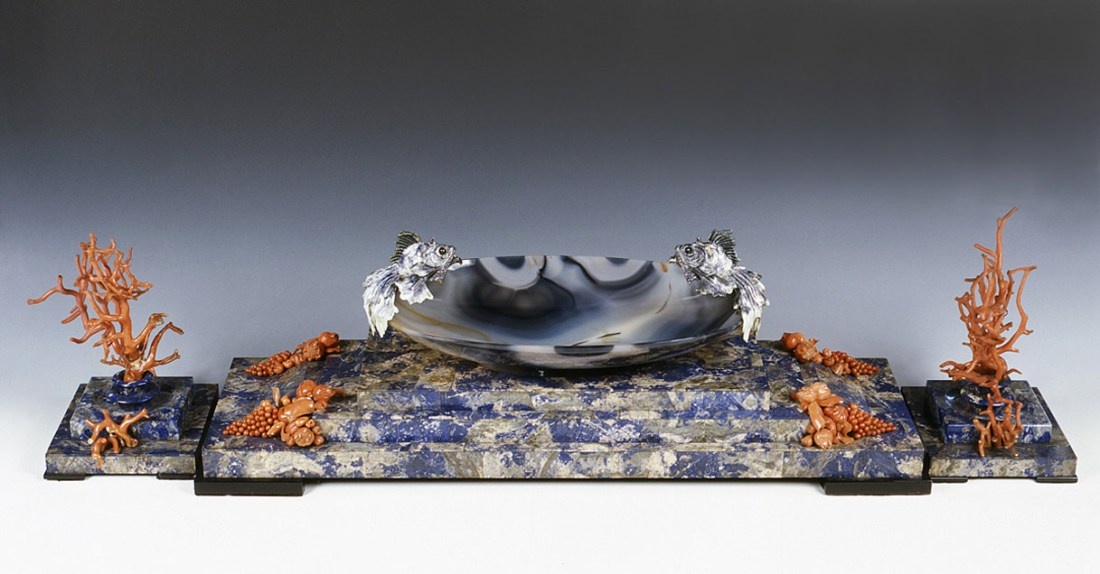 Centerpiece with fish. ca. 1930-35.