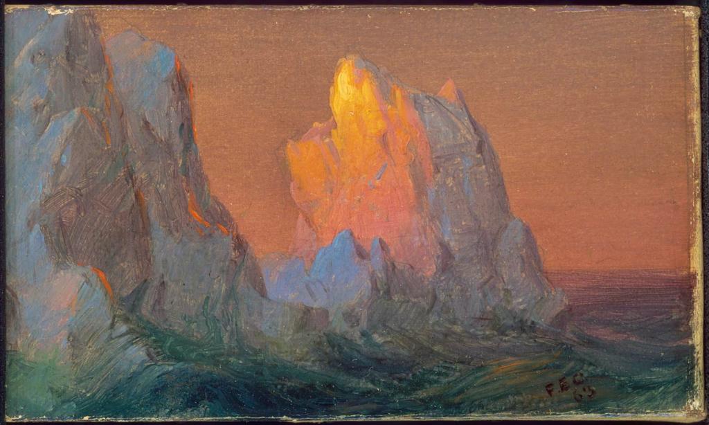 """""""Icebergs."""" 1863."""