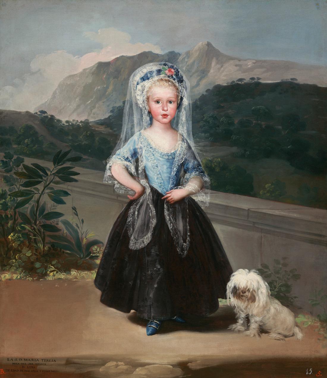 María Teresa de Borbón y Vallabriga, later Condesa de Chinchón. 1783.