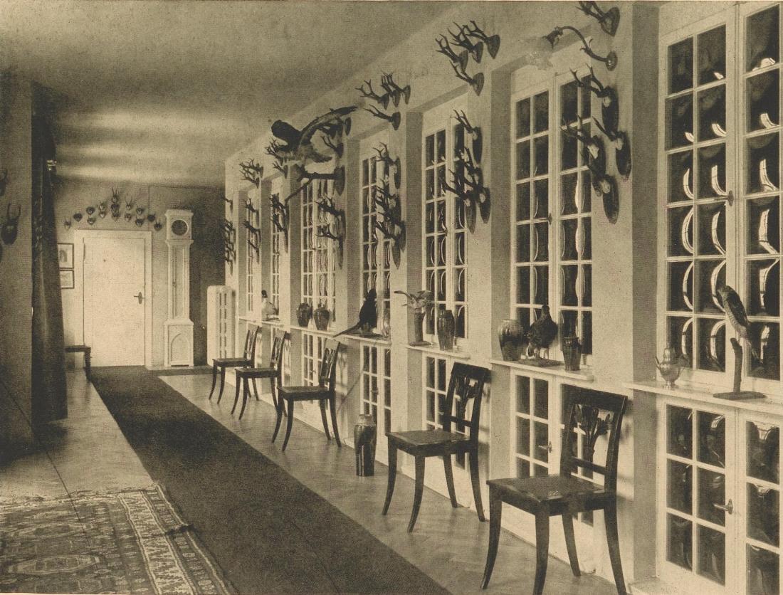 Hall, Schloss Neudorf. 1909. Page 262.