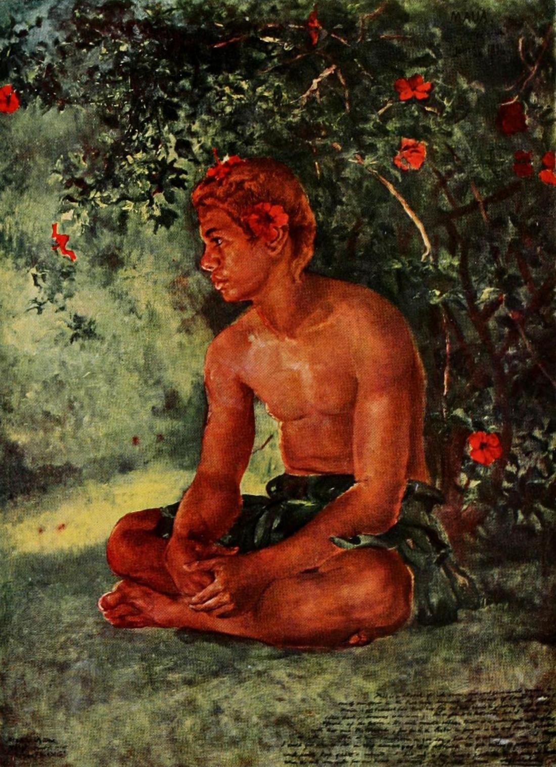 """""""Maua, One of Our Boat Crew, Apia, Samoa."""" 1891. Sketch."""