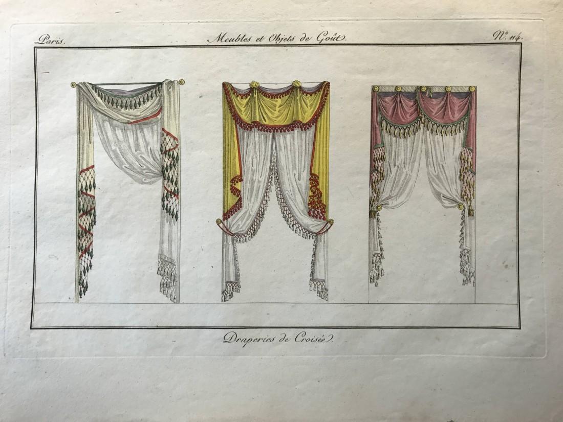 """""""Draperies de Croiseé,"""" from """"Meubles et Objets de goût."""" Number 114."""