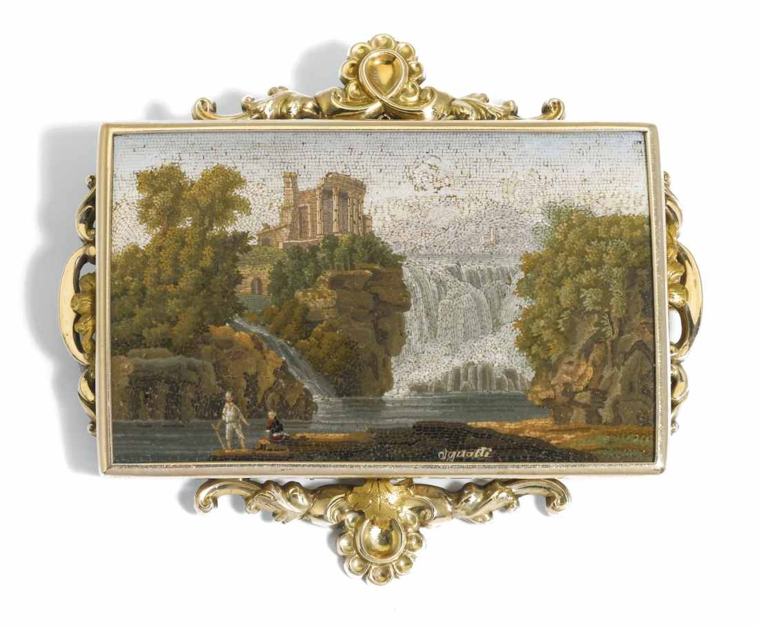 Micromosaic panel. ca. 1820-40.
