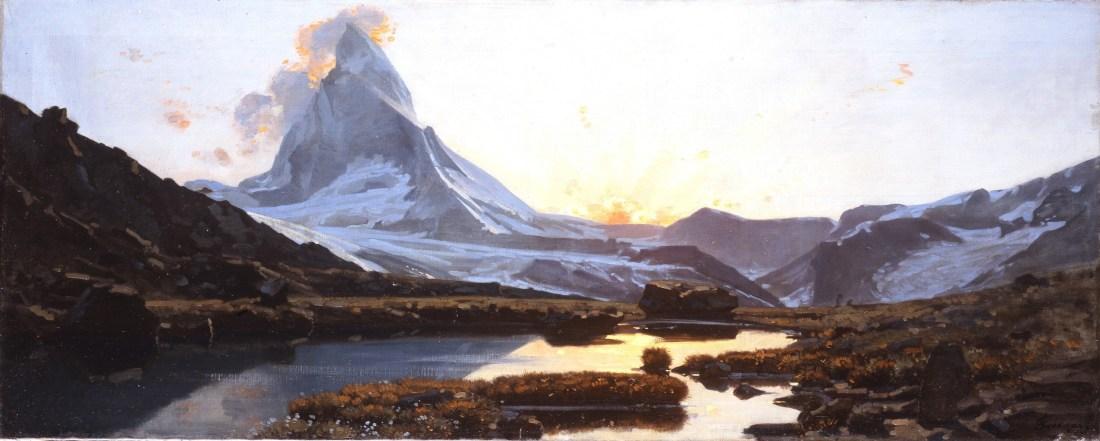 """Le """"Mont Cervin, soleil couchant"""" - a study"""