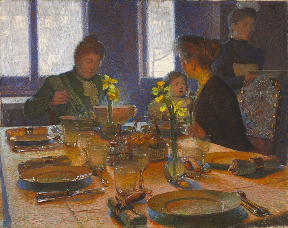 """At the Lunch Table."" 1901."