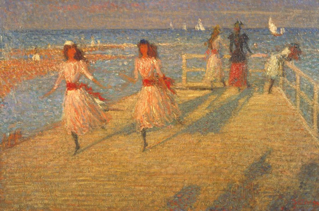 """Girls Running, Walberswick Pier."" 1888-1894."