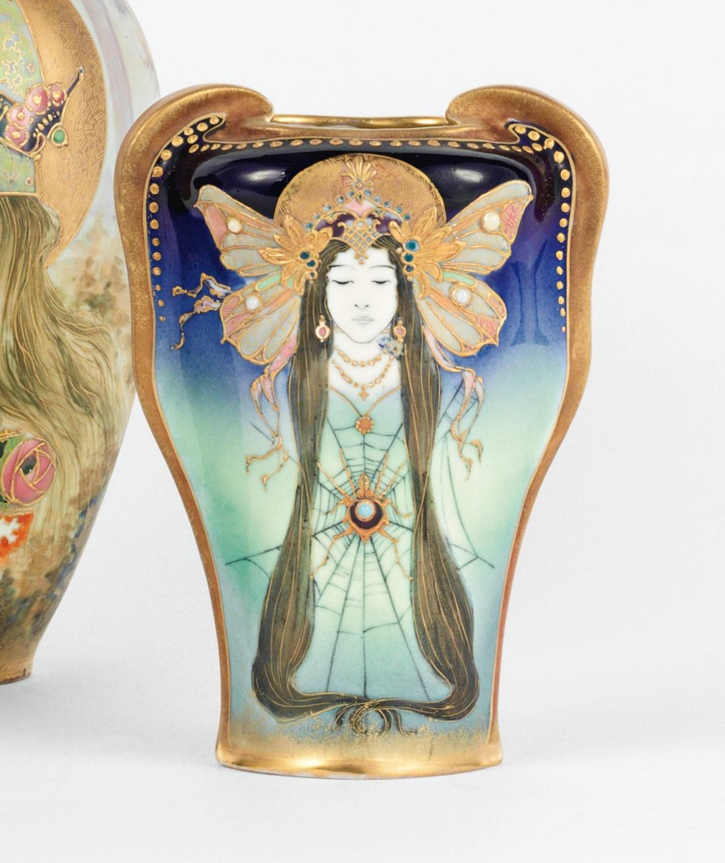 """Spider lady"" vase. ca. 1895."