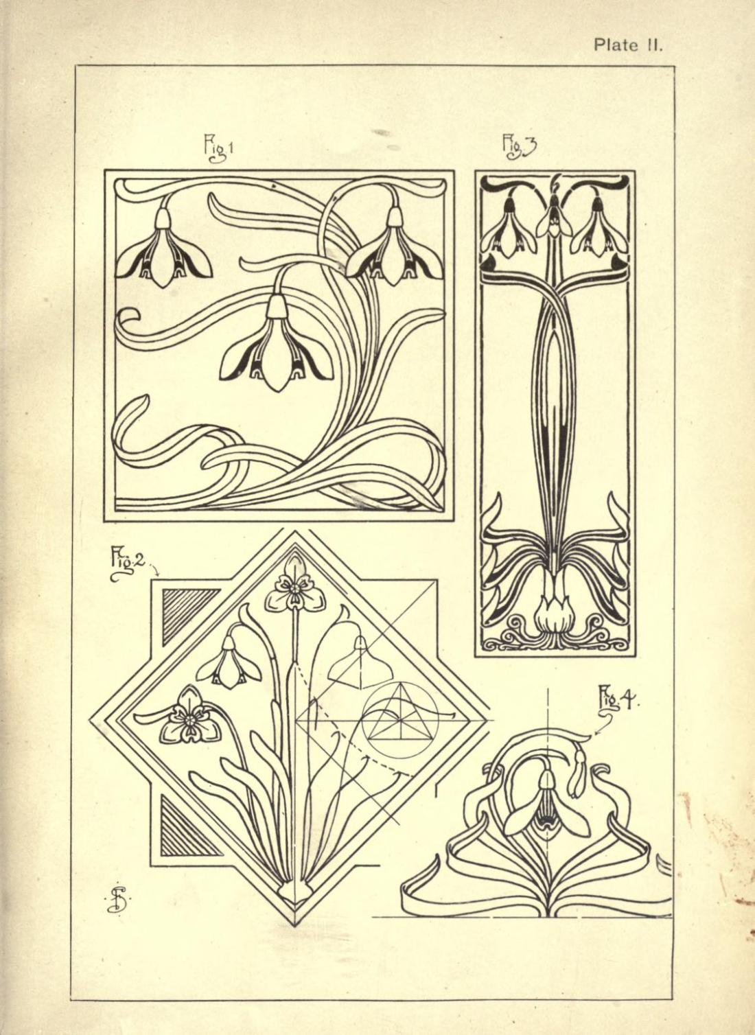 """Snowdrops."" Page 3. Plate II."