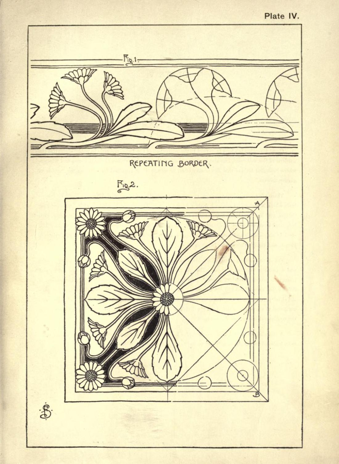 """Daisy."" Plate IV. Page 18. Figures 1 & 2."