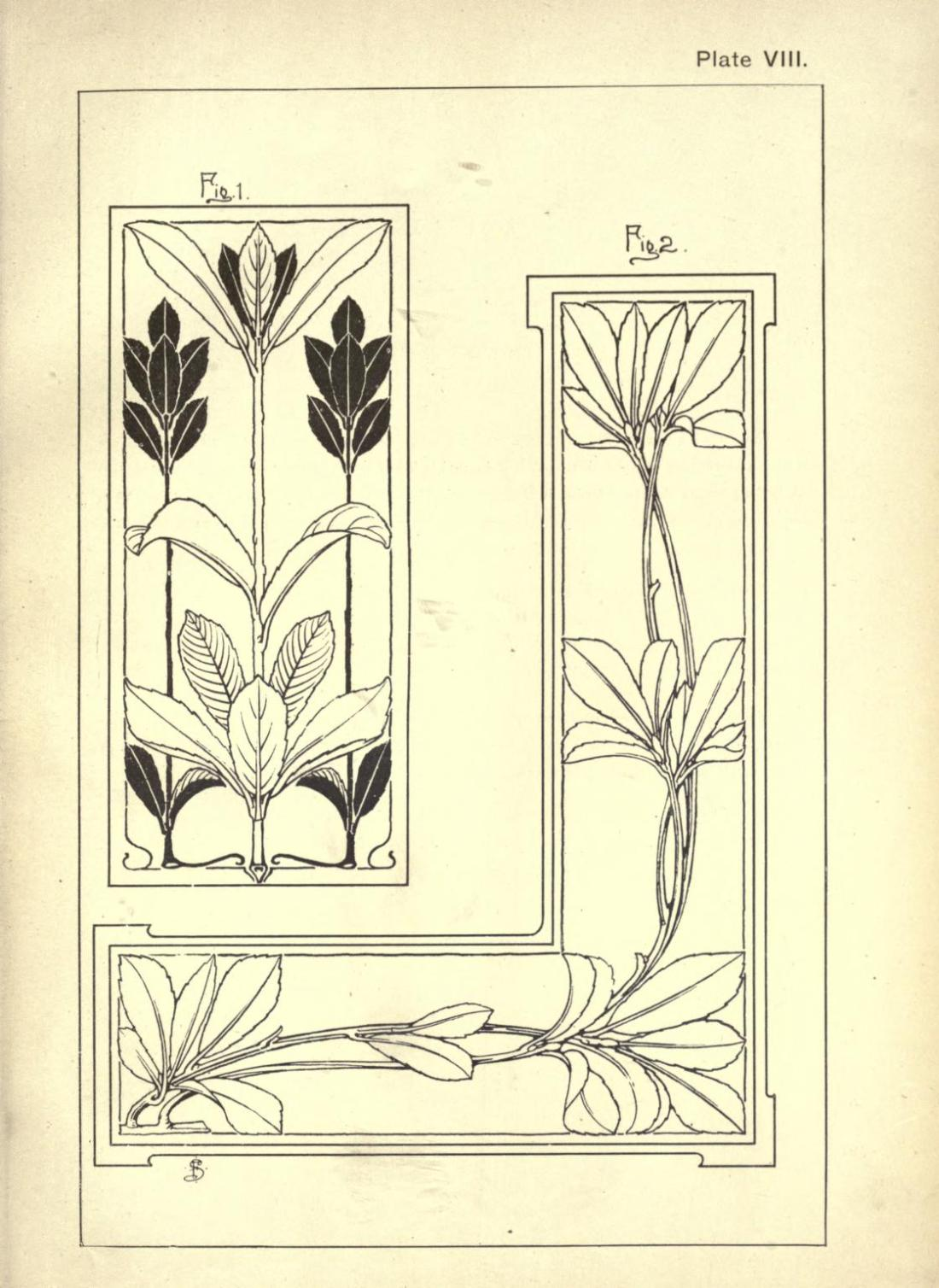 """Laurel."" Page 27. Plate VIII. Figures 1 and 2."