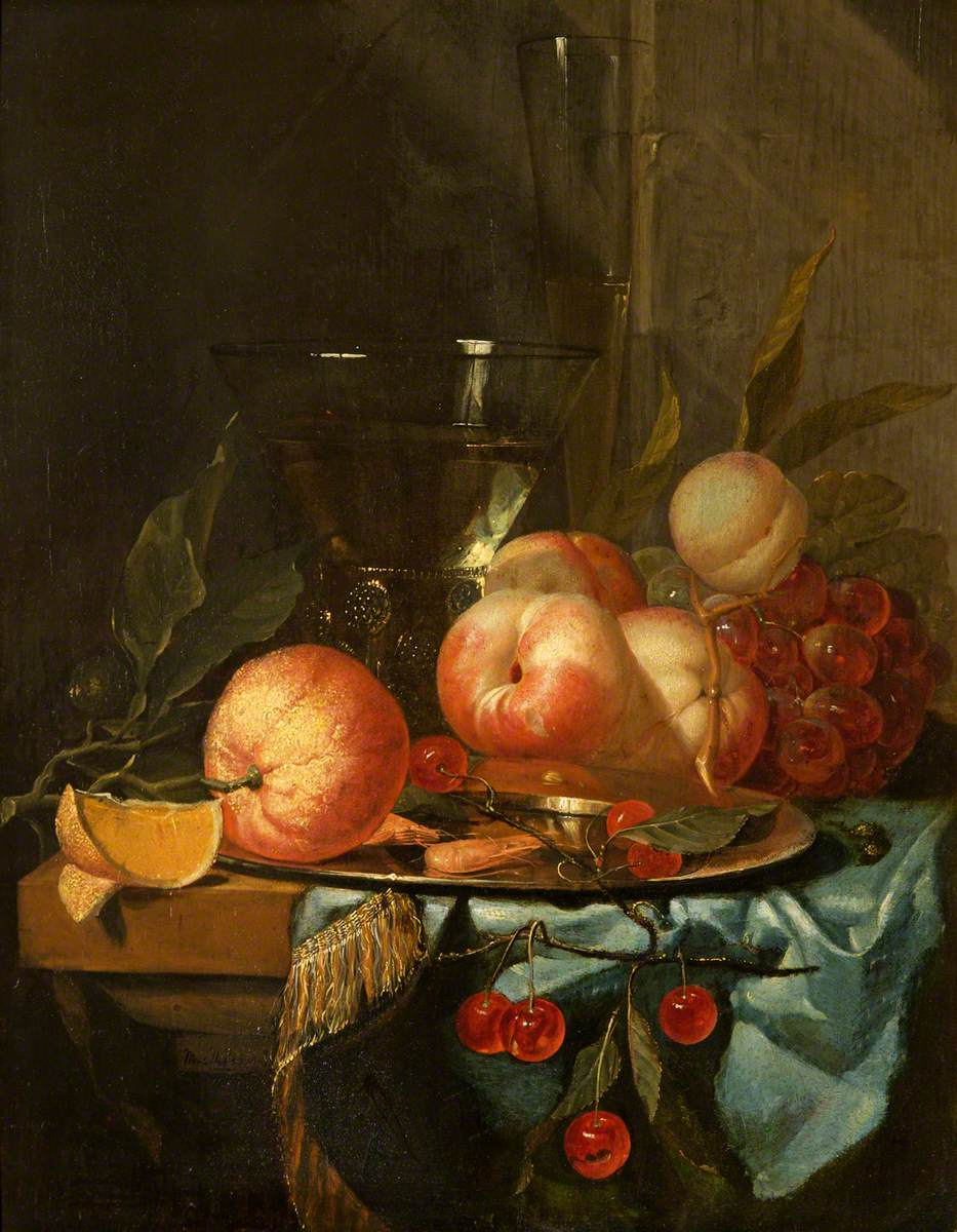 Still life with fruit. No date.