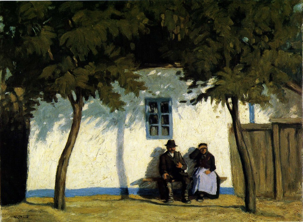 """Untitled work (known as """"Old Couple""""). ca. 1920."""