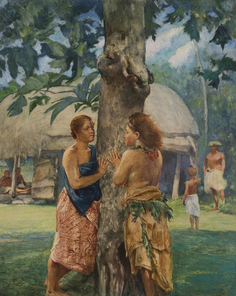 Portrait of Faase, The Taupo of Fagaloa Bay, Samoa. 1891.