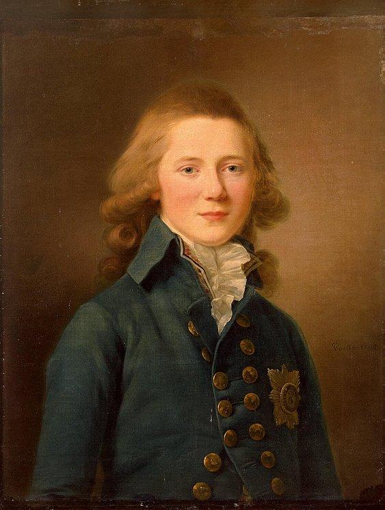 Portrait of Grand Duke Alexander Pavlovich.  1792.
